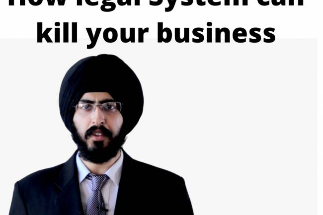 The legal system kills your startup and business