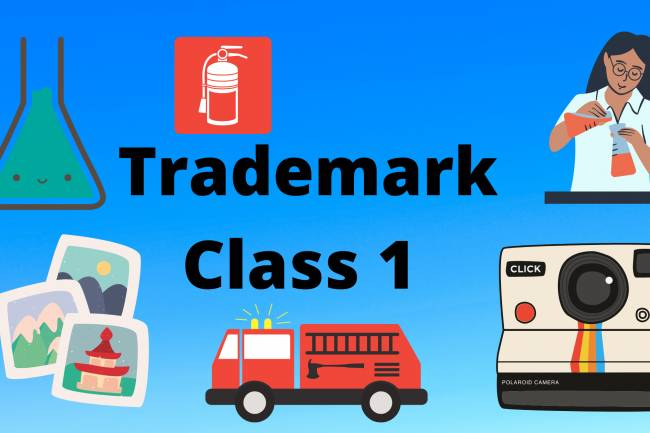 TRADEMARK CLASS 1 Use and details