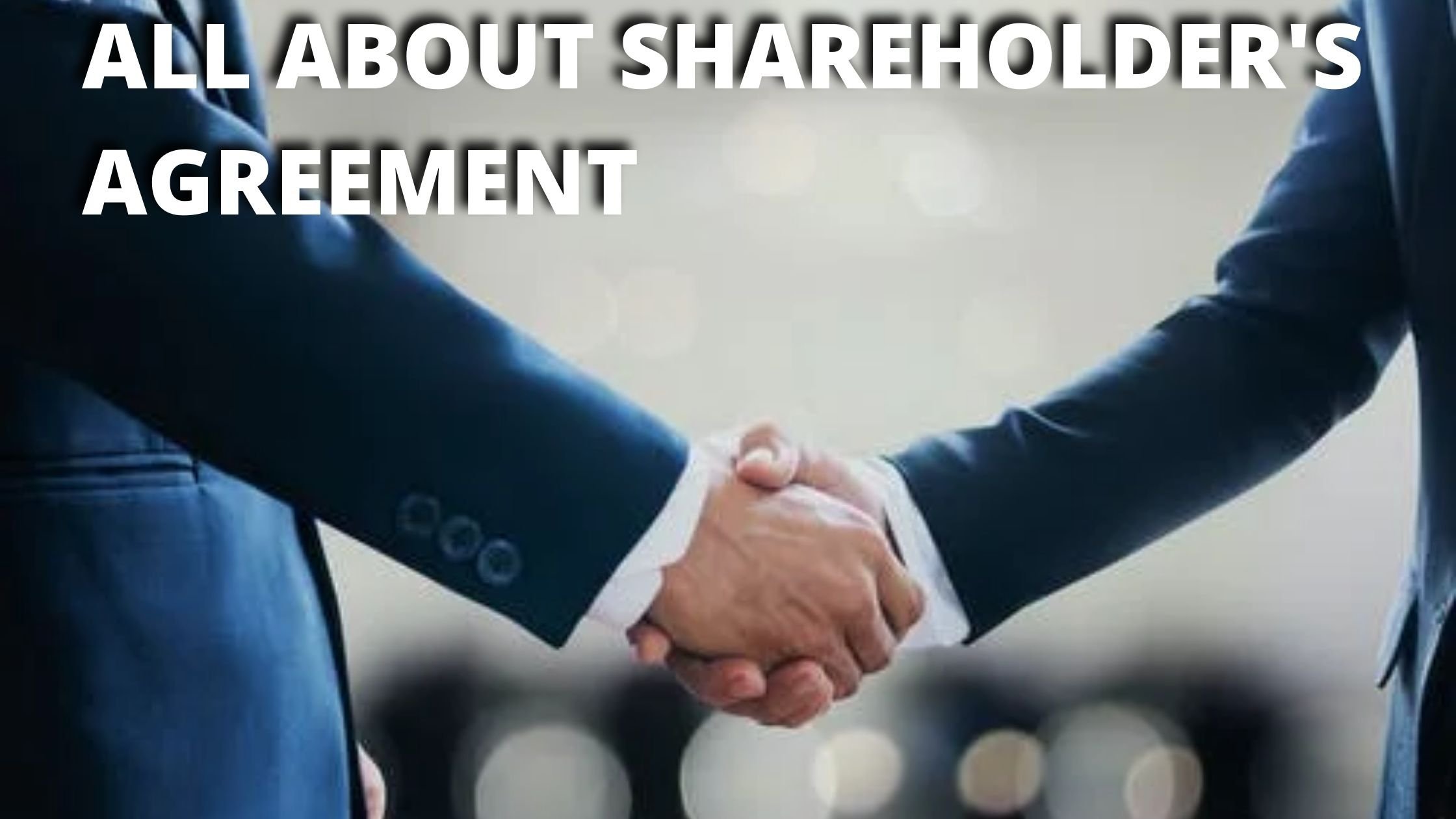 A PRACTICAL GUIDE TO THE SHAREHOLDER'S AGREEMENT